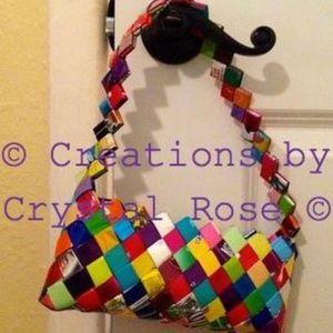 Candy Wrapper Clutch Bag - Multi Colors